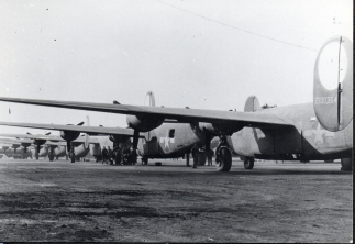 B-24 Liberators awaiting delivery after processing at BAD-2.