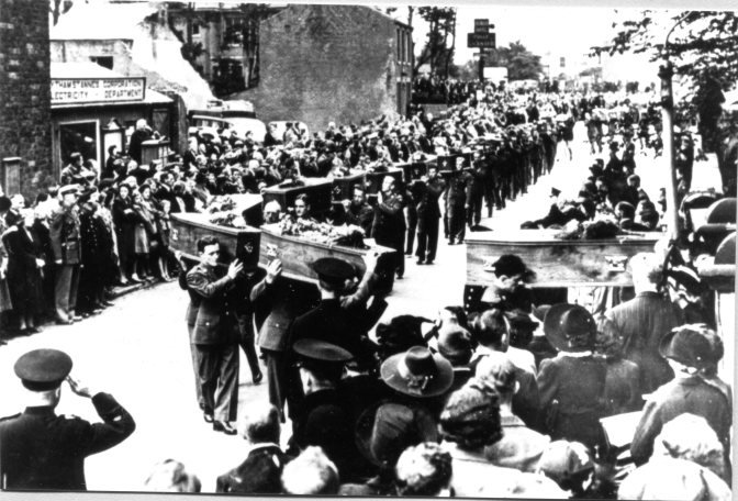 freckleton 28 Aug 1944 funeral procession Photo Ralph Scott